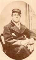 Londres Dulwich Homme En Uniforme? Casquette Ancienne Photo CDV Pimlico 1880 - Old (before 1900)