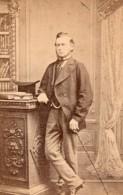 Londres Homme Elegant Mode Victorienne Ancienne Photo CDV 1880 - Photographs