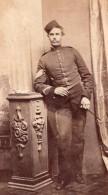 Homme Anglais? En Uniforme Militaire Ancienne Photo CDV 1880 - Photos