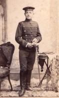 Berlin Homme Allemand En Uniforme Militaire Ancienne Photo CDV Atelier Postlep 1906 - Guerre, Militaire