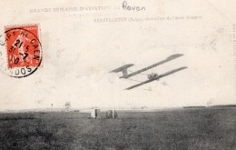 Semaine D'Aviation De Rouen Verstraeten Sur Sommer Ancienne Carte Postale CPA Vers 1910 - ....-1914: Precursors