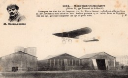 France? Pilote Belge Olieslagers Sur Monoplan Bleriot Aviation Ancienne Carte Postale CPA Vers 1911 - ....-1914: Precursors