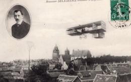 France Argentan Aviation Leon Delagrange En Vol Ancienne Carte Postale CPA Vers 1909 - ....-1914: Précurseurs