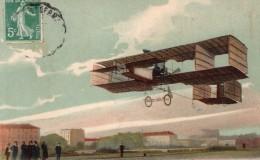 France Aviation Leon Delagrange En Vol Dans Son Avion Ancienne Carte Postale CPA Vers 1910 - ....-1914: Precursors