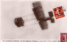 Aviation Reims Ferdinand Ferber De Rue Avion Biplan Voisin Ancienne Carte Postale CPA Vers 1909 - ....-1914: Precursors
