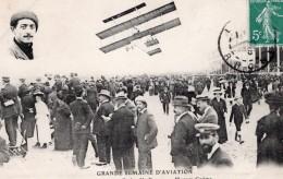 France Lyon Aviation Louis Paulhan Sur Biplan Farman Ancienne Carte Postale CPA Vers 1910 - ....-1914: Précurseurs