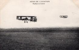 France Aviation Louis Paulhan En Vol Biplan Farman Ancienne Carte Postale CPA Vers 1910 - ....-1914: Precursors