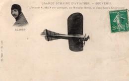 France Semaine D'Aviation Aubrun Et Passagers Monoplan Bleriot Ancienne Carte Postale CPA Vers 1910 - ....-1914: Precursors