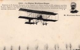 France Aviation Biplan Farman Mortimer Singer Ancienne Carte Postale CPA Vers 1911 - ....-1914: Precursors