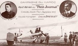 Maroc Casablanca Biplan Breguet Bregi Lebaut Aviation Ancienne Carte Postale CPA Vers 1911 - ....-1914: Precursors