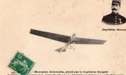 France Aviation Capitaine Burgeat Monoplan Antoinette Ancienne Carte Postale CPA Vers 1911 - ....-1914: Precursors