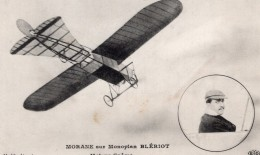 France Aviation Morane Sur Monoplan Bleriot Ancienne Carte Postale CPA Vers 1910 - ....-1914: Precursors