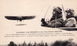 France Aviation Leon Et Robert Morane Bleriot Coupe Michelin Ancienne Carte Postale CPA Vers 1910 - ....-1914: Precursors