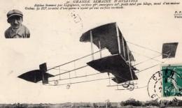 France Semaine D'Aviation Legagneux Sur Biplan Sommer Ancienne Carte Postale CPA Vers 1910 - ....-1914: Precursors