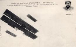 France Aviation Robert Martinet Sur Biplan Farman Ancienne Carte Postale CPA Vers 1910 - ....-1914: Precursors