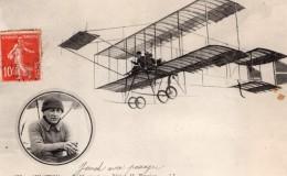 France Aviation Auguste Junod Avec Passager Biplan Farman Ancienne Carte Postale CPA Vers 1911 - ....-1914: Precursors