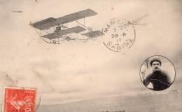France Aviation Maurice Tetard Sur Biplan Sommer Ancienne Carte Postale CPA Vers 1911 - ....-1914: Precursors