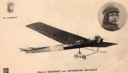 France Aviation Marcel Hanriot Sur Monoplan Hanriot Ancienne Carte Postale CPA Vers 1910 - ....-1914: Precursors