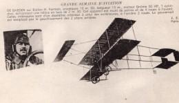 France Aviation De Baeder Sur Biplan Farman Ancienne Carte Postale CPA Vers 1910 - ....-1914: Precursors