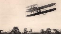France Pau Aviation Wilbur Wright Biplan En Vol Ancienne Carte Postale CPA Vers 1909 - ....-1914: Precursors