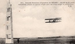 France Reims Semaine D'Aviation Lefebvre Sur Biplan Wright Ancienne Carte Postale CPA Vers 1909 - ....-1914: Precursors