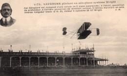 France Reims Semaine D'Aviation Lefebvre Sur Biplan Wright Ancienne Carte Postale CPA Vers 1909 - ....-1914: Précurseurs