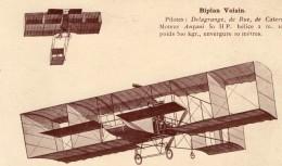 France Aviation Biplan Voisin Delagrange De Rue De Caters Ancienne Carte Postale CPA Vers 1909 - ....-1914: Precursors