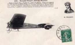 France Aviation Charles Terres Weymann Sur Monoplan Nieuport Ancienne Carte Postale CPA Vers 1911 - ....-1914: Precursors