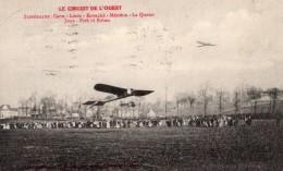 France Aviation Circuit De L'Ouest Avions Foule Ancienne Carte Postale CPA Vers 1910 - ....-1914: Precursors