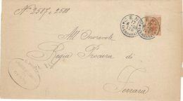 PIEGO DA CENTO A FERRARA DEL 17/06/1899 ANNULLATO CON C.20 DELLA SERIE UMBERTO I 1891 - SASSONE NUMERO 61 - Marcophilie