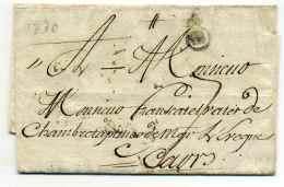 Marque B Couronné Fleurs De Lys  - BORDEAUX /  1770 - Marcophilie (Lettres)