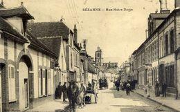 51 SEZANNE - Rue Notre-Dame - Très Animée, Attelages - Sezanne