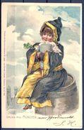 1901 ALEMANIA - MÜNICH , TARJETA POSTAL CIRCULADA , CERVEZA , BREWERIANA - Escenas & Paisajes