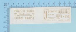 Canada Fiscaux -  1964 Timbre De $0.50 Gold EMA  Timbre De Loi Law Stamp, Palais De Justice De Sherbrooke  Quebec - Fiscaux