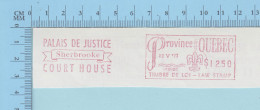 Canada Fiscaux -  1973 Timbre De $0.20 Red EMA  Timbre De Loi Law Stamp, Palais De Justice De Sherbrooke  Quebec - Fiscaux