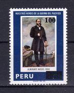 PERU - 1981 - Pacific War Heroes, Admiral Miguel Grau - Sc 732 -  VF MNH - Peru