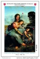2010 - BF 95 Maestri Della Pittura - Leonardo Da Vinci - Malte (Ordre De)