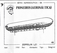BUBBLE GUM / CHEWING GUM: GORILA - AERONAUTICAL SERIES / (1) PIONEERS - 045 ZEPPLIN LZI - Vieux Papiers