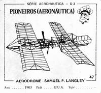 BUBBLE GUM / CHEWING GUM: GORILA - AERONAUTICAL SERIES / (1) PIONEERS - 047 AERODROME - SAMUEL P. LANGLEY - Vieux Papiers
