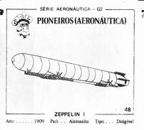 BUBBLE GUM / CHEWING GUM: GORILA - AERONAUTICAL SERIES / (1) PIONEERS - 048 ZEPPELIN I - Other