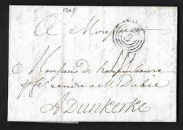 MARQUE ORNE BORDEAUX LENAIN N°2 FLEUR DE LYS 1704 POUR DUNKERQUE NORD INDICE 14 - 1701-1800: Précurseurs XVIII