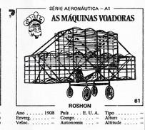 BUBBLE GUM / CHEWING GUM: GORILA - AERONAUTICAL SERIES / (2) FLYING MACHINES - 061 ROSHON - Vieux Papiers