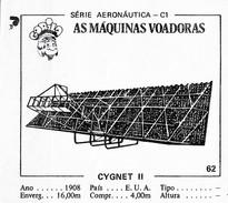 BUBBLE GUM / CHEWING GUM: GORILA - AERONAUTICAL SERIES / (2) FLYING MACHINES - 062 CYGNET II - Other