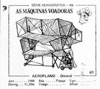 BUBBLE GUM / CHEWING GUM: GORILA - AERONAUTICAL SERIES / (2) FLYING MACHINES - 063 DORAND - Vieux Papiers