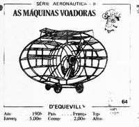 BUBBLE GUM / CHEWING GUM: GORILA - AERONAUTICAL SERIES / (2) FLYING MACHINES - 064 D'EQUEVILLY - Vieux Papiers