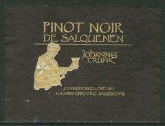 Rare // Etiquette // Pinot Noir De Salquenen, Kuonen + Grichting, Salgesch, Valais Suisse - Etiquettes