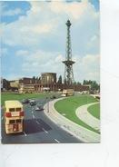 Berlin : Funkturm Mit Stadtautobahn - Radio Tower (publicité Mobiloil) Cp Vierge - Motos