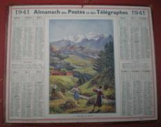 ALMANACH DES POSTES ET DES TÉLÉGRAPHES (Oberthur)  1941 - La Fenaison En Savoie. - Calendriers