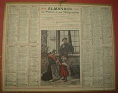 ALMANACH DES POSTES ET DES TÉLÉGRAPHES  1919-  La Toilette Du Dimanche.. - Calendari