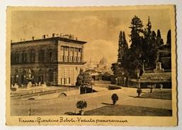 FIRENZE GIARDINO BOBOLI E VEDUTA PANORAMICA VIAGGIATA FG - Firenze